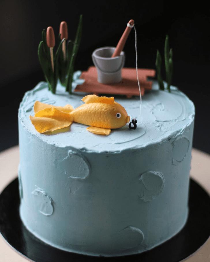 Elegant Goldfish Cake