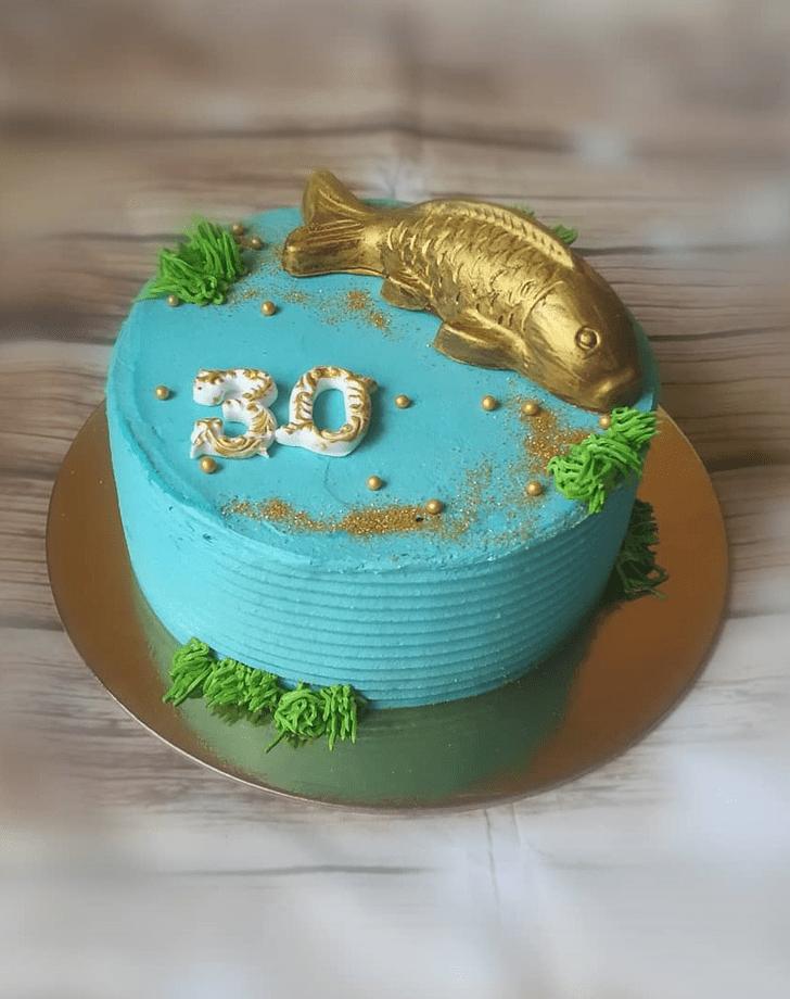 Enticing Goldfish Cake