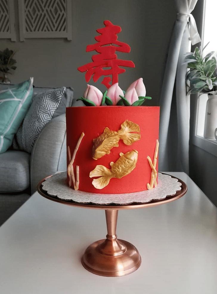Exquisite Goldfish Cake