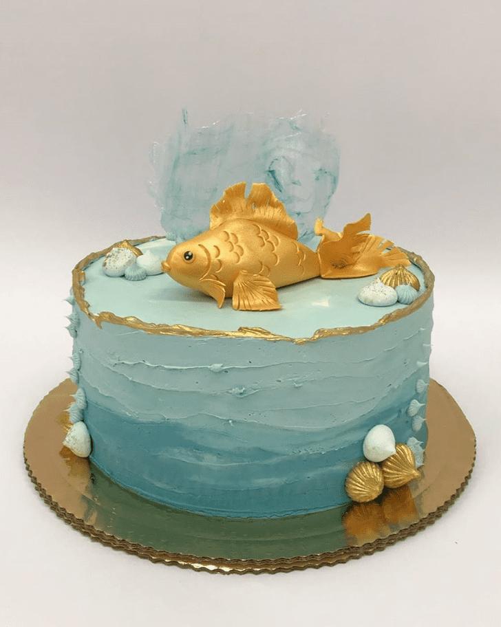 Fascinating Goldfish Cake