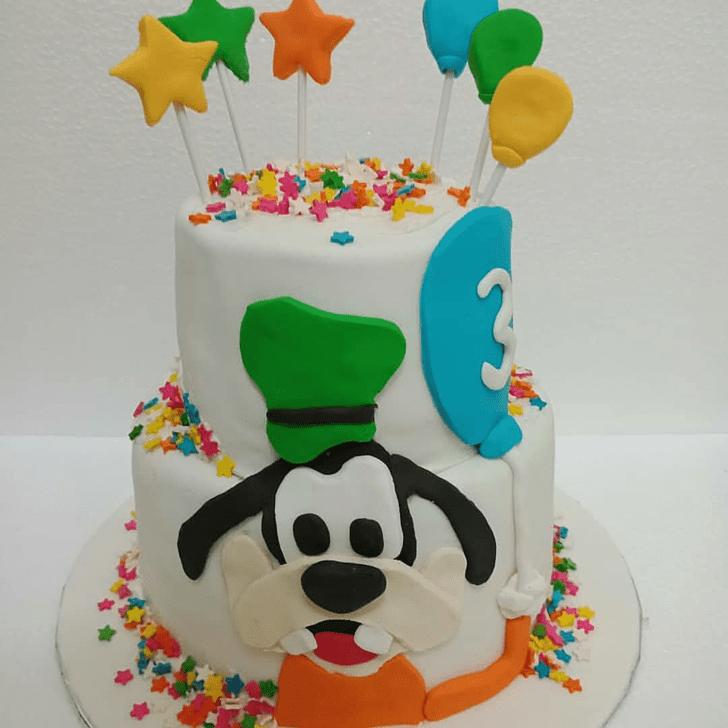 Shapely Goofy Cake