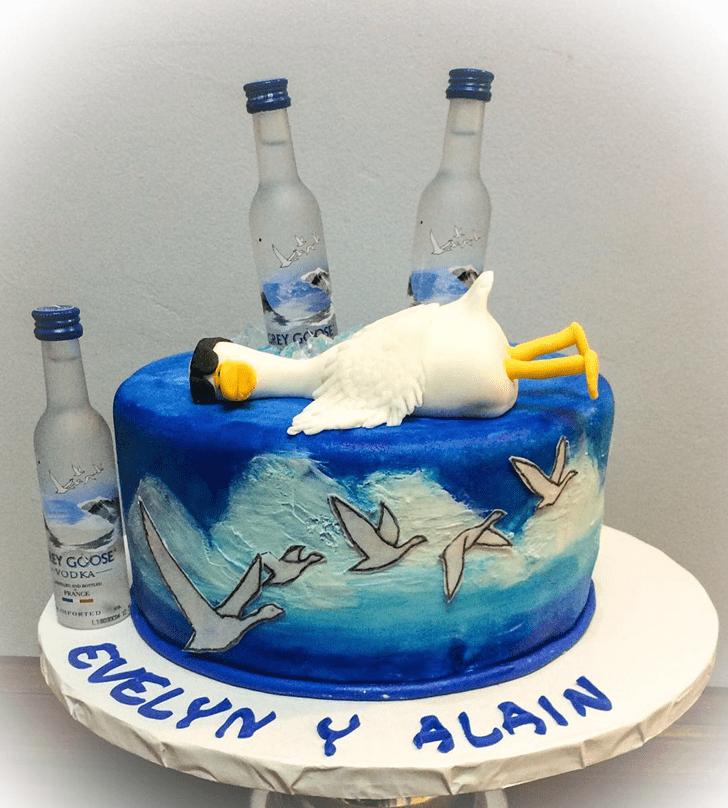Elegant Goose Cake