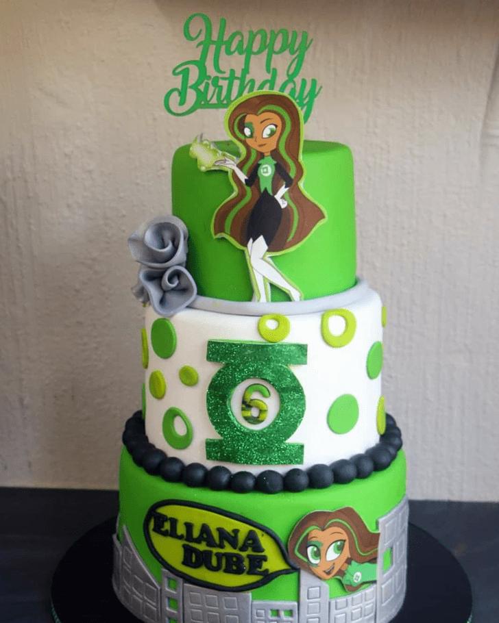 Angelic Green Lantern Cake