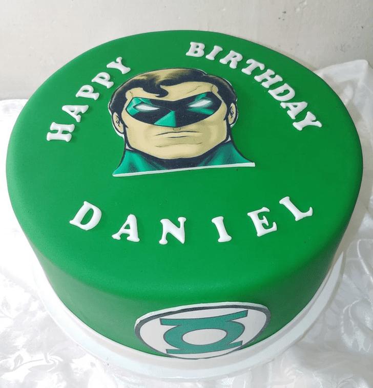 Appealing Green Lantern Cake