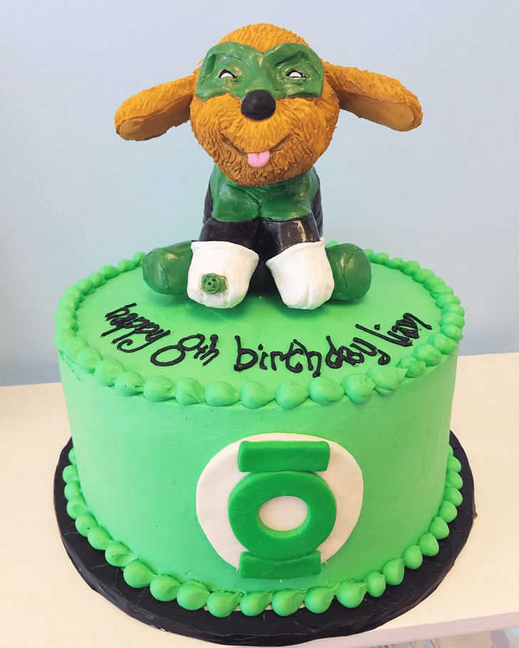 Beauteous Green Lantern Cake
