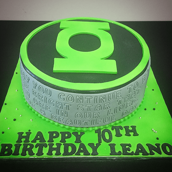 Captivating Green Lantern Cake