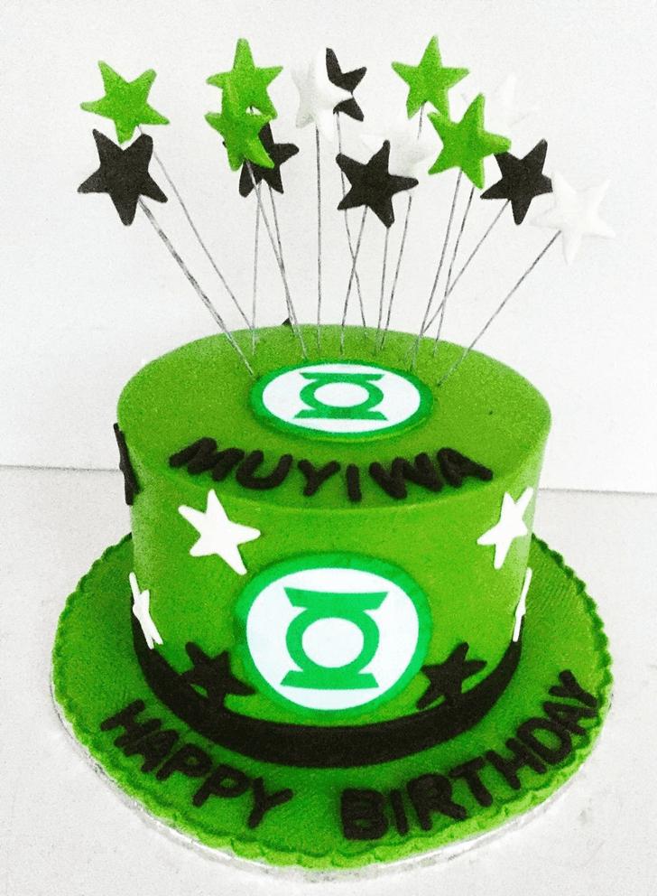 Classy Green Lantern Cake
