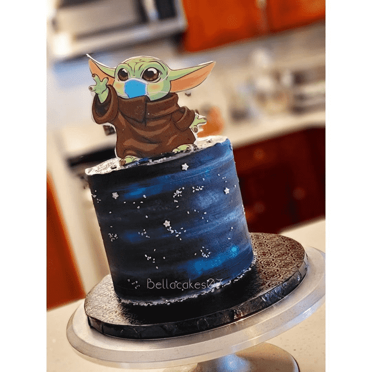 Angelic Grogu Cake