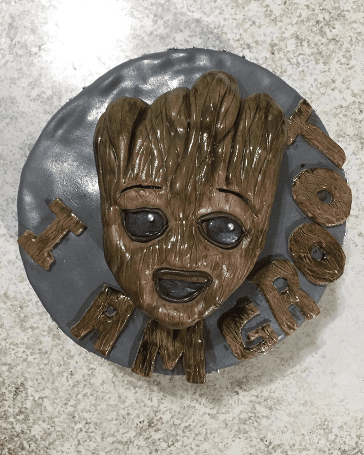 Adorable Groot Cake