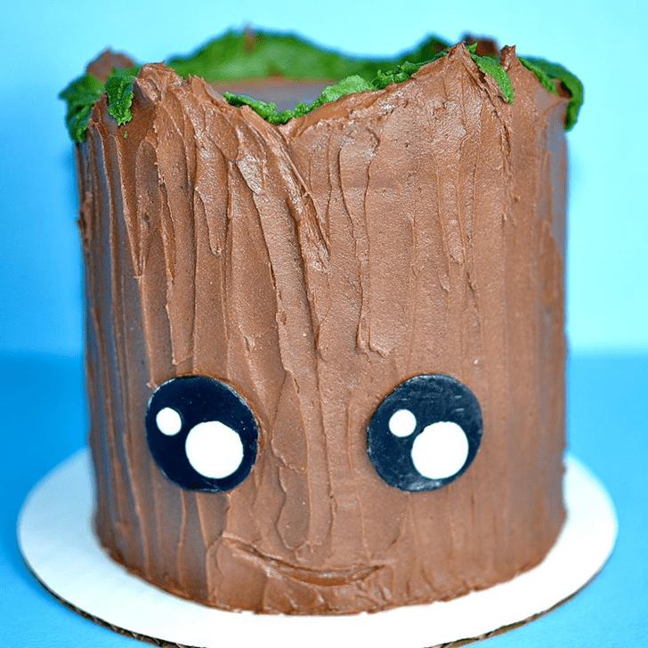 Cute Groot Cake