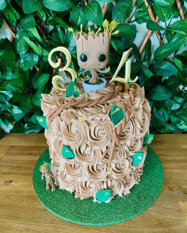 Enticing Groot Cake