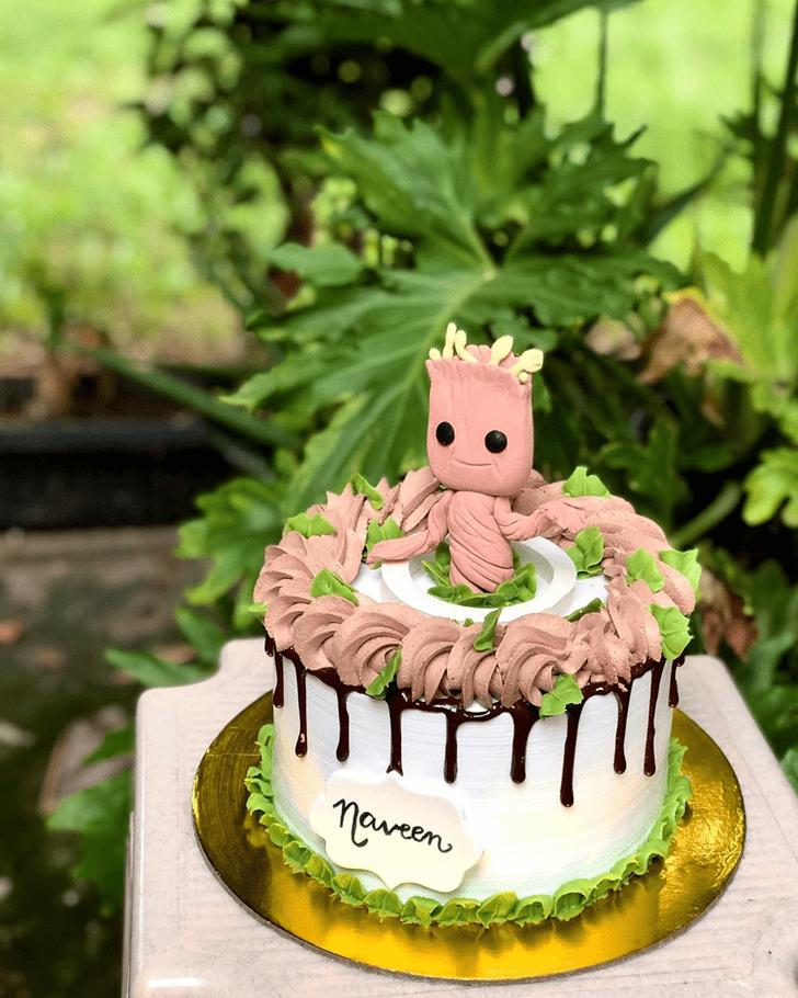 Fetching Groot Cake
