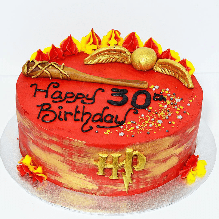 Delicate Gryffindor Cake