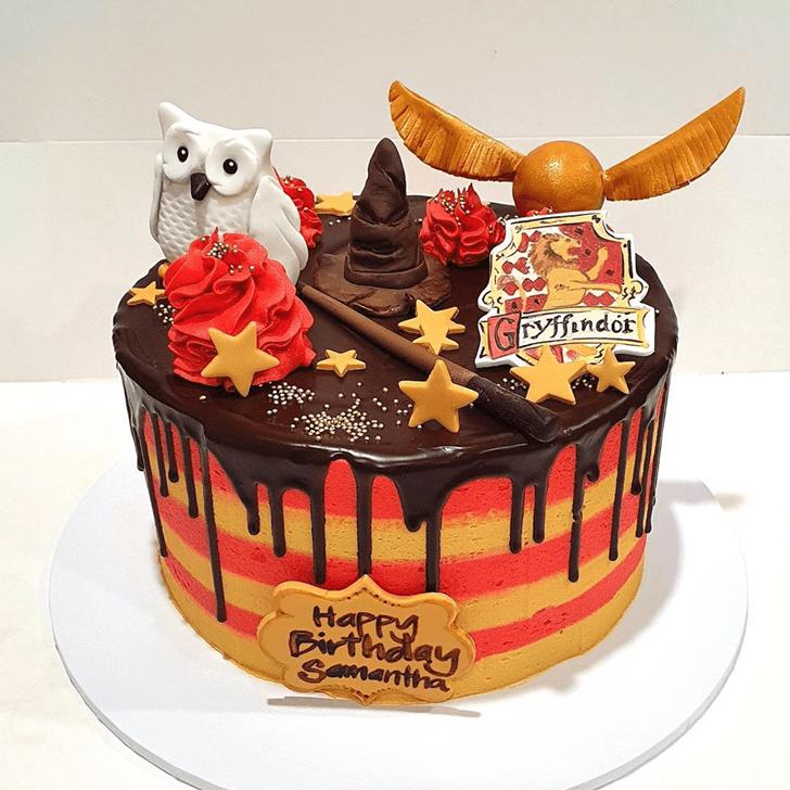 Shapely Gryffindor Cake