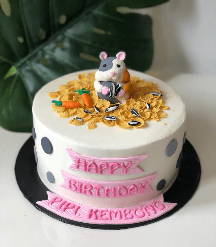 Adorable Hamster Cake