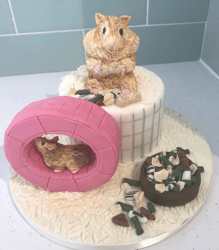 Charming Hamster Cake