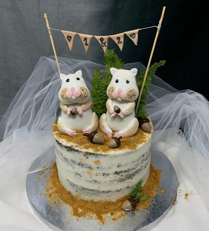 Graceful Hamster Cake