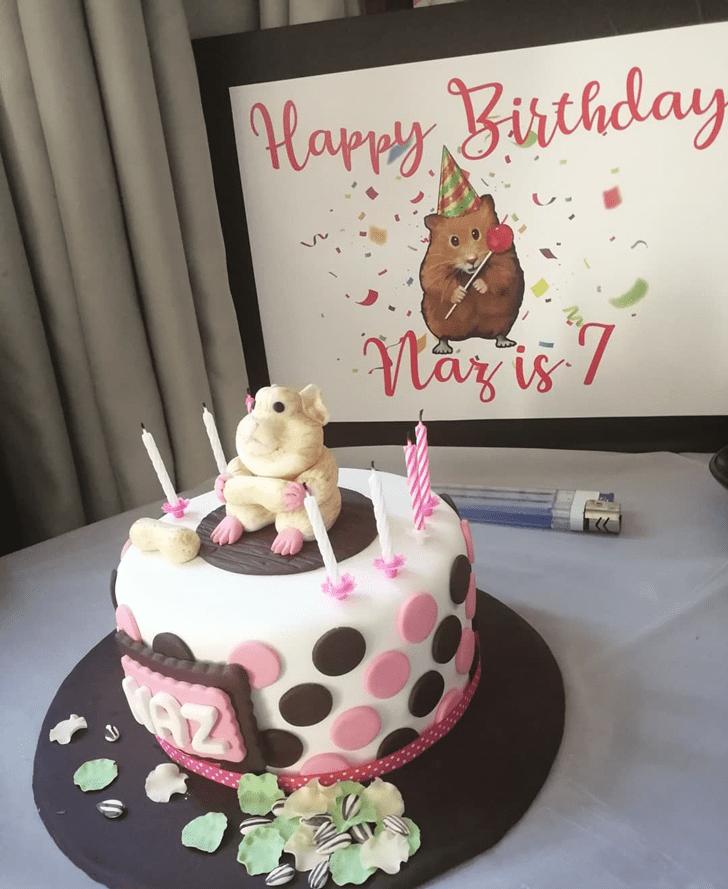 Lovely Hamster Cake Design