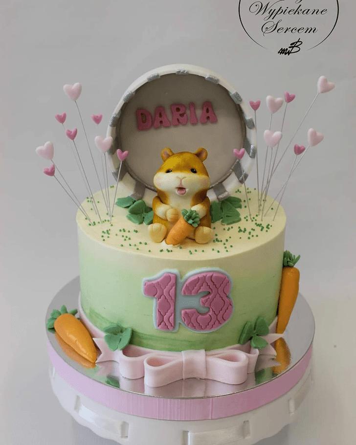 Pretty Hamster Cake