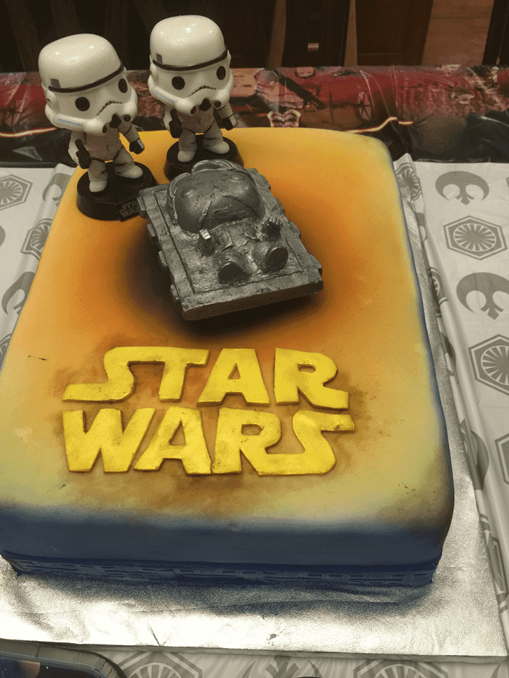 Admirable Han Solo Cake Design