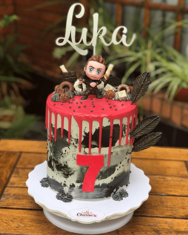 Adorable Hawkeye Cake