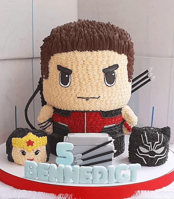 Charming Hawkeye Cake