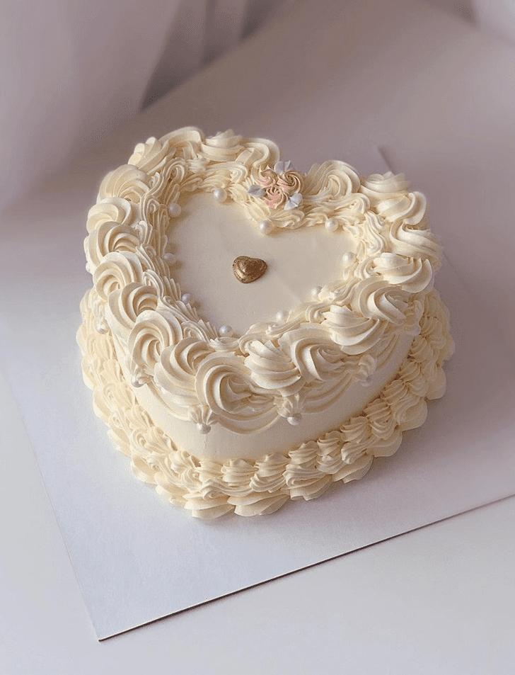 Adorable Heart Cake
