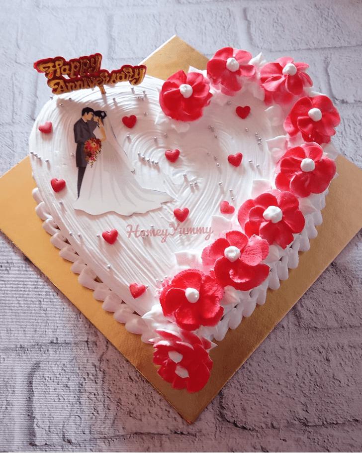 Alluring Heart Cake