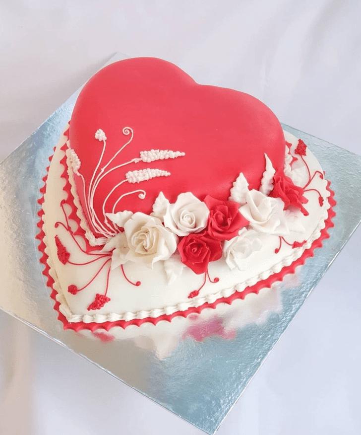 Angelic Heart Cake