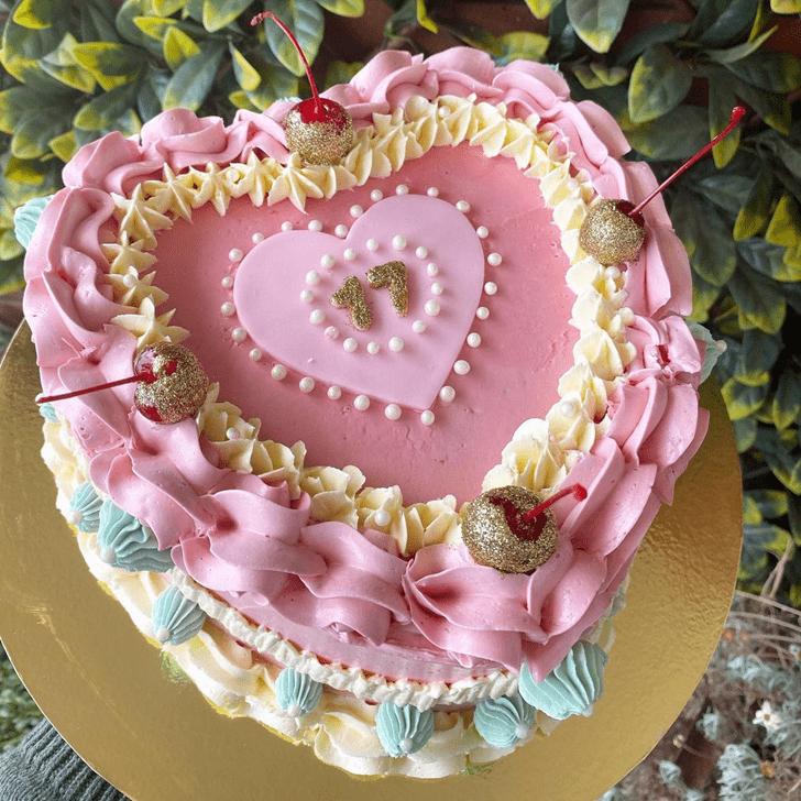 Beauteous Heart Cake