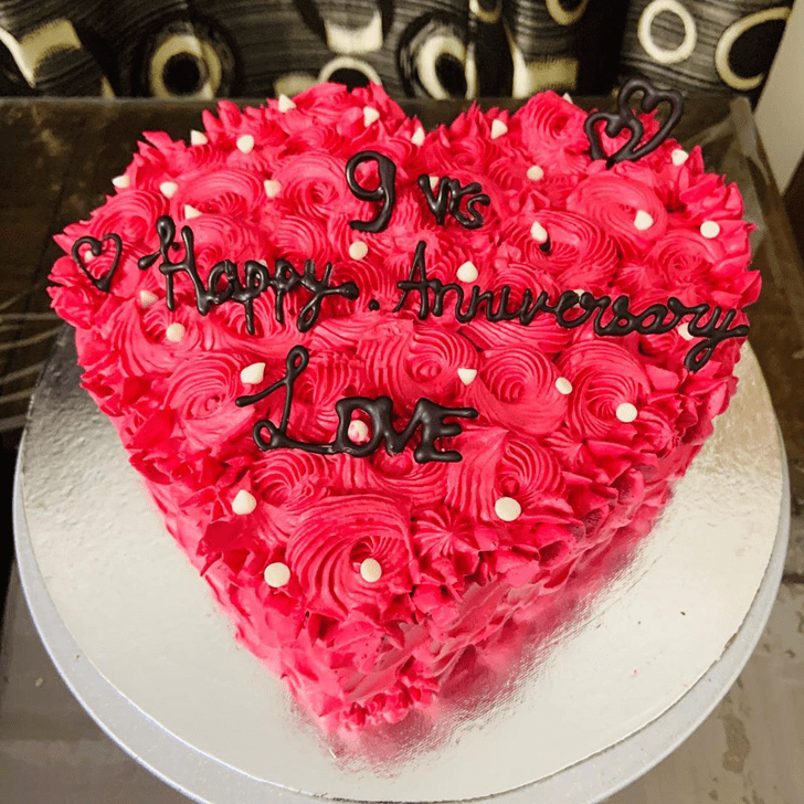 Bewitching Heart Cake