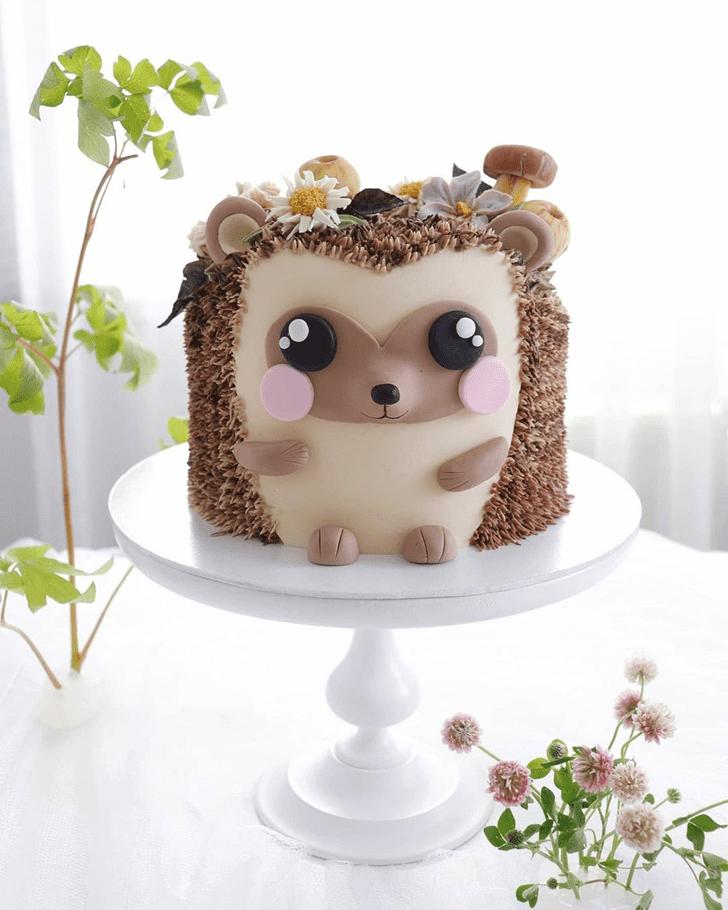 Admirable Hedgehog Cake Design