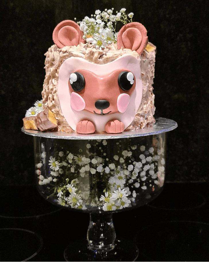 Alluring Hedgehog Cake