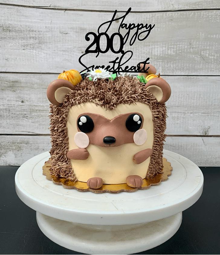 Appealing Hedgehog Cake