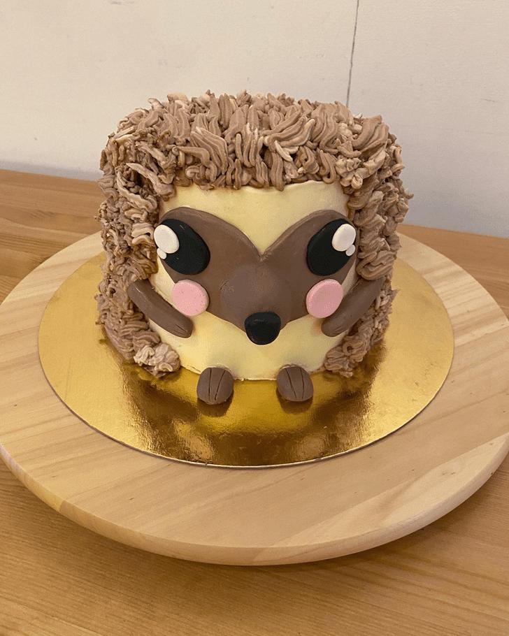 Beauteous Hedgehog Cake