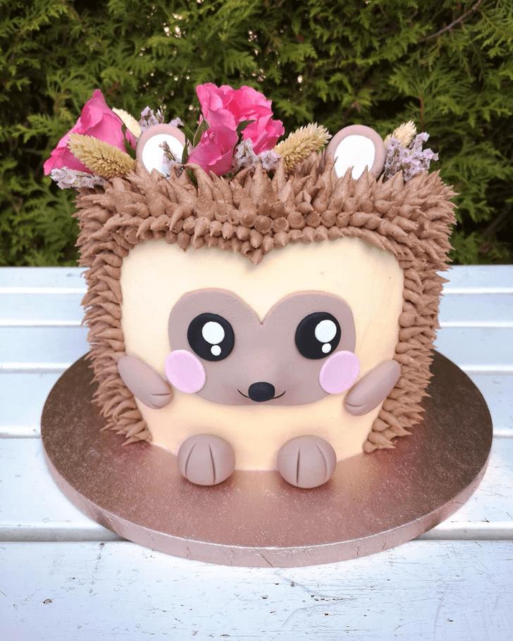Charming Hedgehog Cake