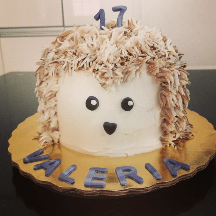 Delightful Hedgehog Cake