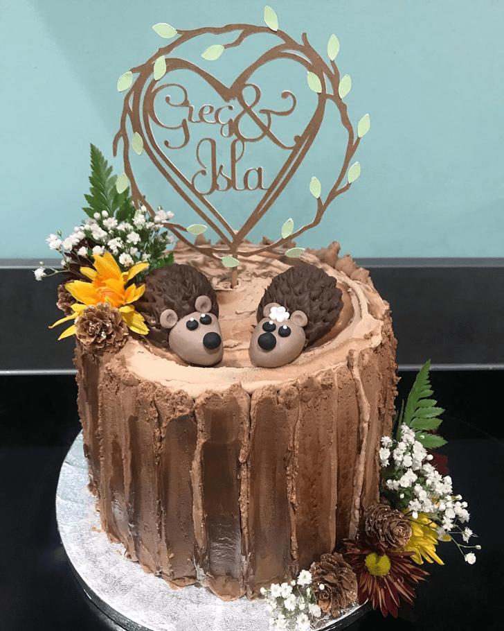 Fetching Hedgehog Cake