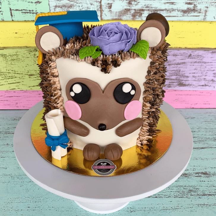Pleasing Hedgehog Cake