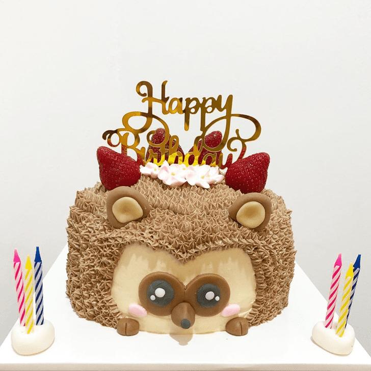 Shapely Hedgehog Cake