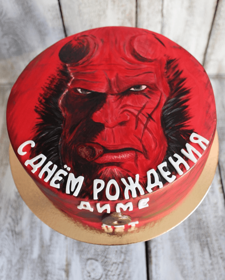 Classy Hellboy Cake