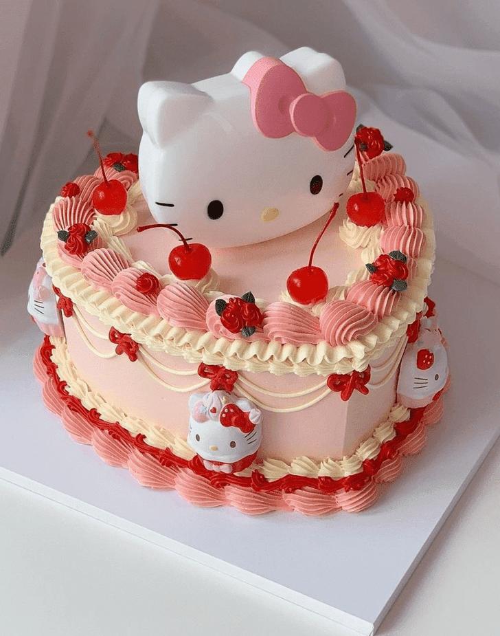 Alluring Hello Kitty Cake