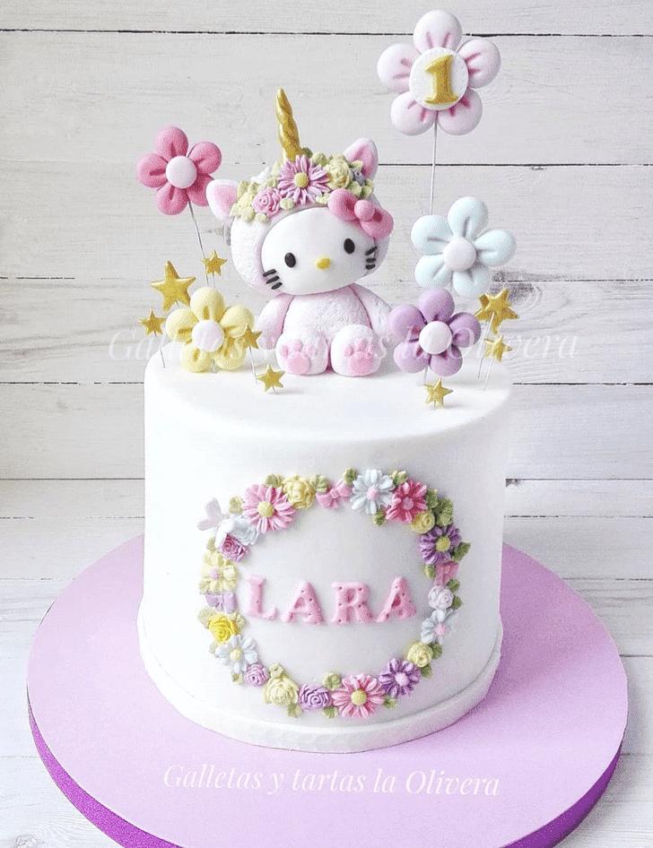 Angelic Hello Kitty Cake