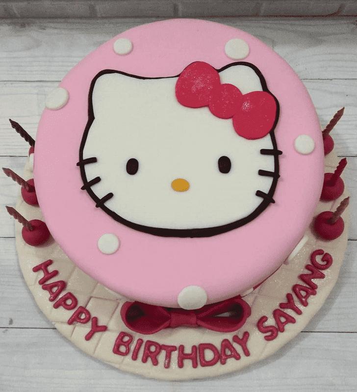 Classy Hello Kitty Cake