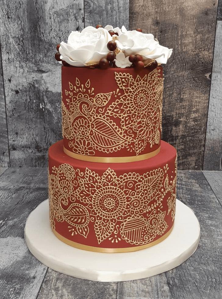Cute Henna Cake