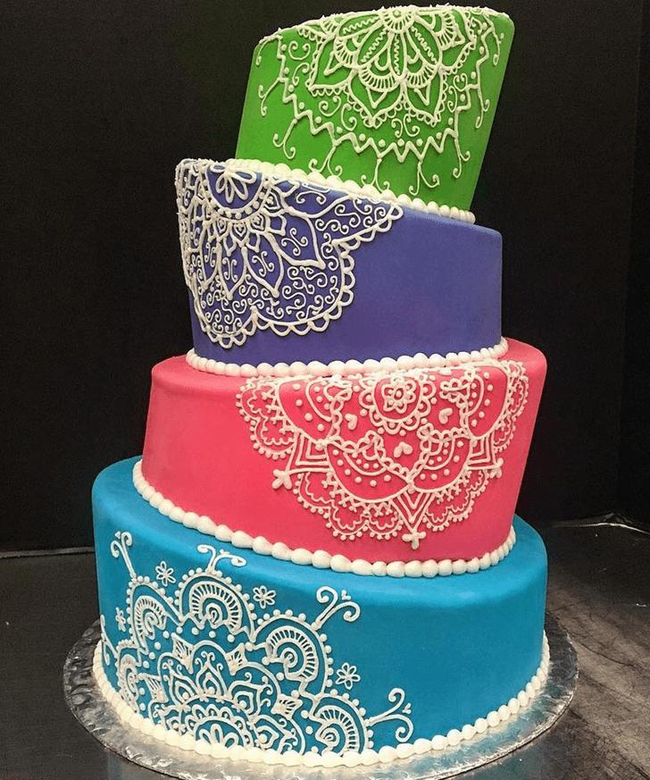 Elegant Henna Cake