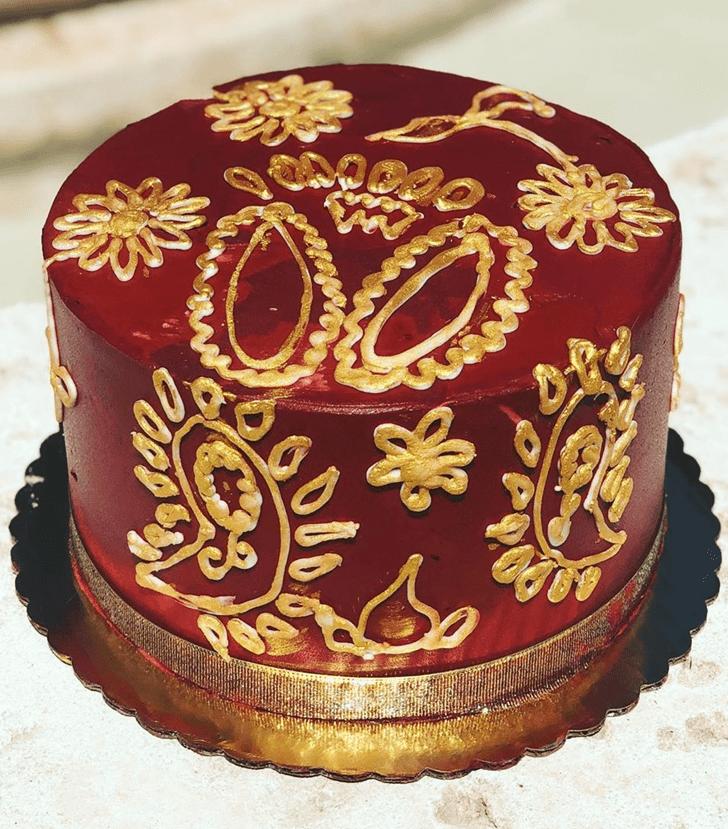 Enthralling Henna Cake