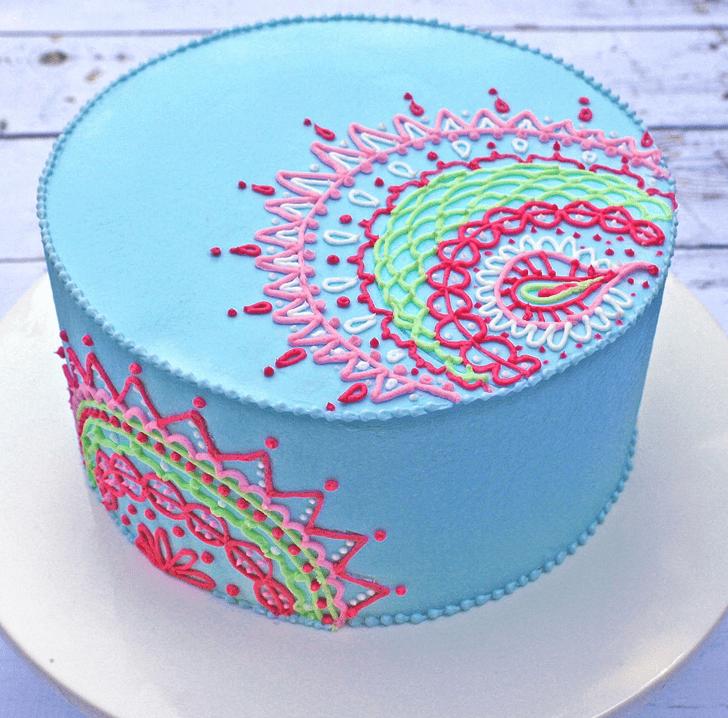 Exquisite Henna Cake