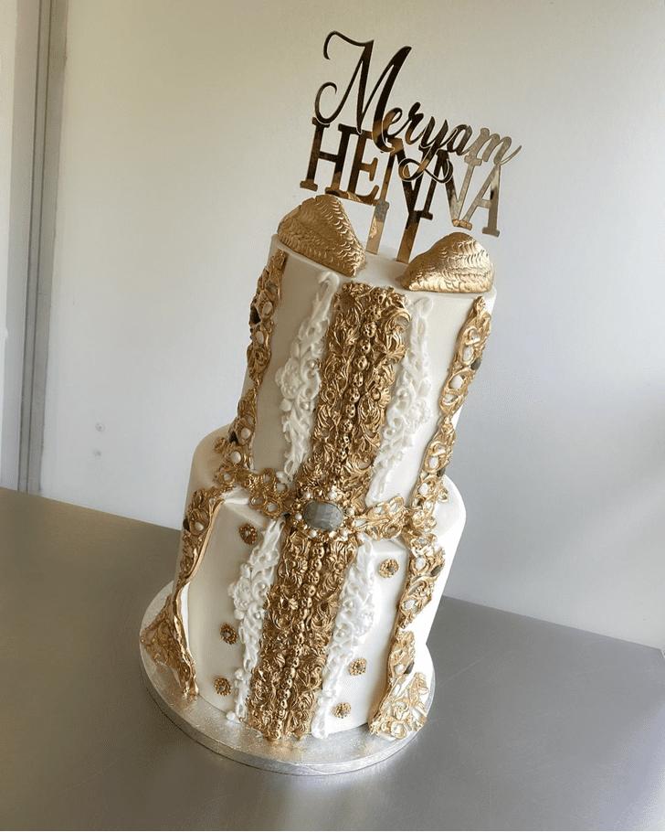 Pretty Henna Cake