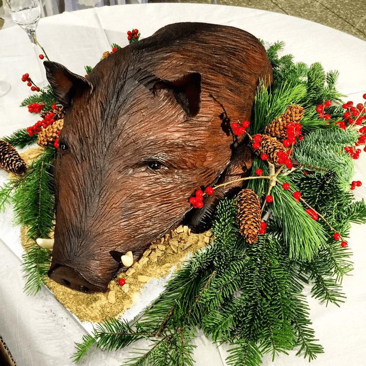 Alluring Hog Cake